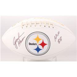 "Jack Ham Signed Pittsburgh Steelers Logo Football Inscribed ""HOF 88"" (JSA COA)"
