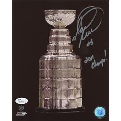 """Mark Recchi Signed Stanley Cup 8x10 Photo Inscribed """"2011 Champs!"""" (JSA COA)"""