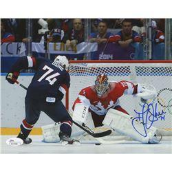 T.J. Oshie Signed Team USA 8x10 Photo (JSA COA)