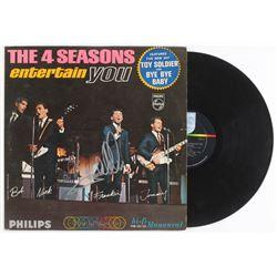 "Frankie Valli Signed ""The Four Seasons Entertain You"" Vinyl Record Album (JSA COA)"