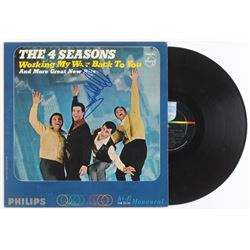 "Frankie Valli Signed ""Working My Way Back to You"" Vinyl Record Album (JSA COA)"
