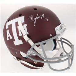 Myles Garrett Signed Texas AM Aggies Full-Size Custom Matte Maroon Helmet (JSA COA)