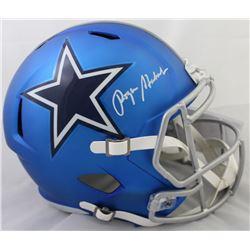 Roger Staubach Signed Dallas Cowboys Blaze Full-Size Speed Helmet (JSA COA)