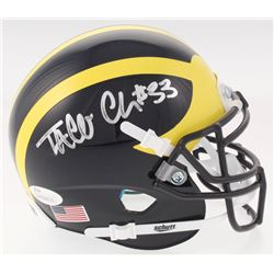 Taco Charlton Signed Michigan Wolverines Mini Helmet (JSA COA)