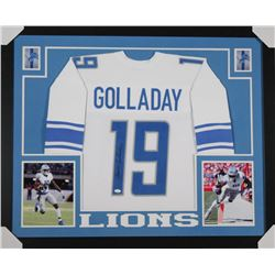 Kenny Golladay Signed Detroit Lions 35x43 Custom Framed Jersey (JSA COA)