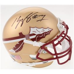 Kelvin Benjamin Signed Florida State Seminoles Mini Helmet (JSA COA)