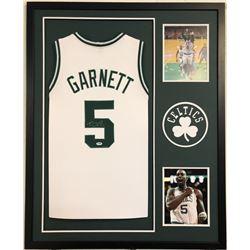 Kevin Garnett Signed Boston Celtics 35x43 Custom Framed Jersey (PSA COA)