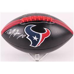 DeAndre Hopkins Signed Houston Texans Logo Football (JSA COA)