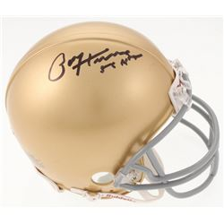 "Paul Hornung Signed Notre Dame Fighting Irish Mini Helmet Inscribed ""56 H"" (JSA COA)"