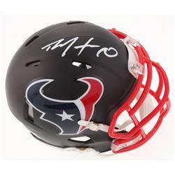 DeAndre Hopkins Signed Houston Texans Custom Matte Black Speed Mini Helmet (JSA COA)