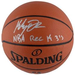 "Klay Thompson Signed Spalding Basketball Inscribed ""NBA REC 14 3s""(Fanatics Hologram)"