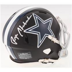Roger Staubach Signed Dallas Cowboys Custom Matte Black Speed Mini Helmet (JSA COA)