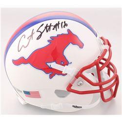 Courtland Sutton Signed SMU Mustangs Mini Helmet (Beckett COA)