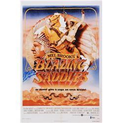 Mel Brooks Signed Blazing Saddles 12x18 Movie Poster Photo (Beckett COA)