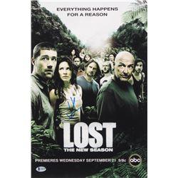 J.J. Abrams Signed Lost 12x18 Poster Photo (Beckett COA)