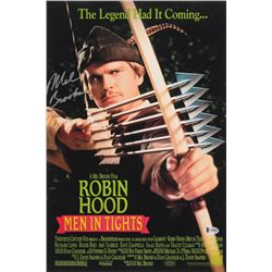 Mel Brooks Signed Robin Hood: Men in Tights 12x18 Movie Poster Photo (Beckett COA)