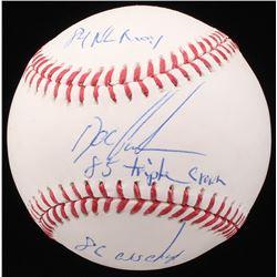 "Dwight ""Doc"" Gooden Signed OML Baseball Inscribed ""84 NL ROY"", ""85 Triple Crown""  ""86 WS Champ"" (JSA"