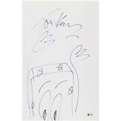 "Tom Kenny Signed 11x17 ""Spongebob Squarepants"" Sketch on Board (PSA COA)"