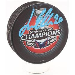 Lars Eller Signed Washington Capitals 2018 Stanley Cup Champions Hockey Puck (Fanatics Hologram)