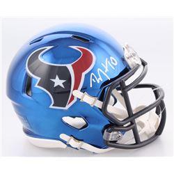DeAndre Hopkins Signed Houston Texans Chrome Speed Mini-Helmet (JSA COA)