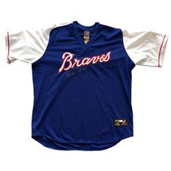 Hank Aaron Signed Majestic Cooperstown Atlanta Braves Jersey (JSA LOA)