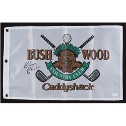 "Chevy Chase Signed 13x20.5 Bushwood Country Club ""Caddyshack"" Golf Flag (JSA COA)"