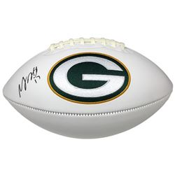 Davante Adams Signed Green Bay Packers Logo Football (JSA COA)