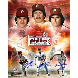 Pete Rose, Mike Schmidt  Steve Carlton Signed Philadelphia Phillies 16x20 Photo (Fanatics  MLB Holog