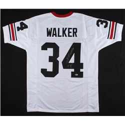 "Herschel Walker Signed Georgia Bulldogs Jersey Inscribed ""82 Heisman"" (Beckett COA)"