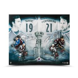 "Joe Sakic  Peter Forsberg Signed Colorado Avalanche ""2x Champs"" 20x24 Limited Edition Photo (UDA COA"