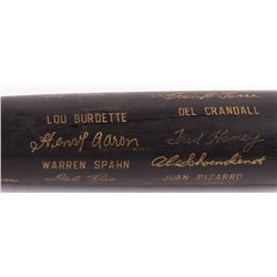 Louisville Slugger 1958 Milwaukee Braves National League Champions Engraved Baseball Bat