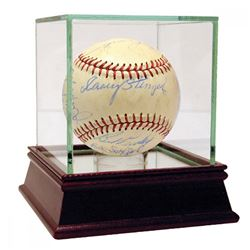 1960 New York Yankees Baseball Team-Signed by (25) with Casey Stengel, Whitey Ford, Bobby Richardson