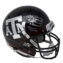 "Johnny Manziel Signed Texas AM Aggies Schutt Full-Size Helmet Inscribed ""'12 Heisman""  ""Johnny Footb"