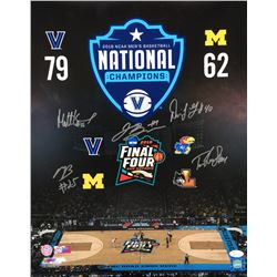 2018 Villanova Wildcats 16x20 Photo Signed by (5) with Jalen Brunson, Mikal Bridges, Tom Leibig, Mat