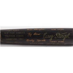 Louisville Slugger 1957 New York Yankees American League Champions Engraved Baseball Bat