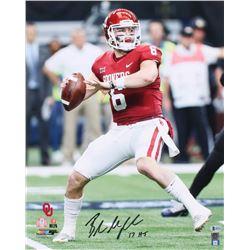 """Baker Mayfield Signed Oklahoma Sooners 16x20 Photo Inscribed """" '17 HT"""" (Beckett COA)"""