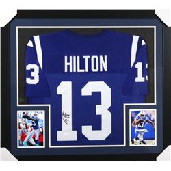 T. Y. Hilton Signed Indianapolis Colts 31x35 Custom Framed Jersey (JSA COA)