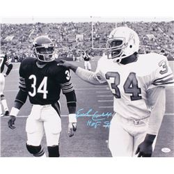 "Earl Campbell Signed Houston Oilers 16x20 Photo Inscribed ""HOF 91"" (JSA COA)"