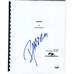 "Russell Crowe Signed ""Gladiator"" Full Movie Script (PSA Hologram)"