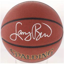 Larry Bird Signed NBA Basketball (Schwartz COA  Bird Hologram)