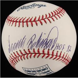 "Frank Robinson Signed Hall of Fame OML Baseball Inscribed ""HOF 82"" (JSA COA)"