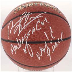 "Dennis Rodman Signed NBA Basketball Inscribed ""Ambassador of World Peace"" (Schwartz COA)"