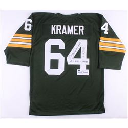 """Jerry Kramer Signed Green Bay Packers Jersey Inscribed """"H.O.F. 2018"""", """"5X N.F.L. CHAMPS""""  """"S.B. I  I"""