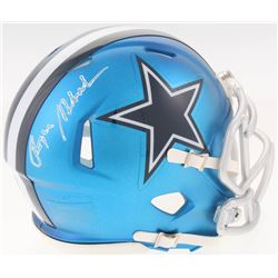 Roger Staubach Signed Dallas Cowboys Blaze Speed Mini Helmet (Schwartz COA)