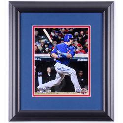 Kyle Schwarber Signed Chicago Cubs 2016 World Series 14.5x17 Custom Framed Photo Display (Schwartz C