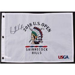 Brooks Koepka Signed 2018 U.S Open Golf Pin Flag (JSA COA)