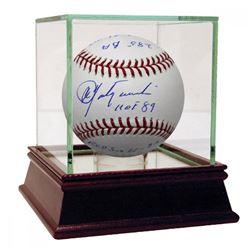 Carl Yastrzemski Signed Baseball with (11) Inscriptions  High Quality Display Case (Steiner COA)