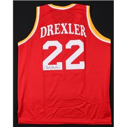 Clyde Drexler Signed Houston Rockets Jersey (JSA COA)