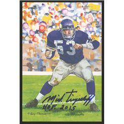 Mick Tingelhoff Signed 2015 LE Minnesota Vikings 4x6 Pro Football Hall of Fame Art Collection Card I