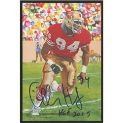 Charles Haley Signed 2015 LE San Francisco 49ers 4x6 Pro Football Hall of Fame Art Collection Card I